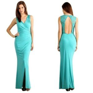 Sleeveless Fitted Mermaid Style Gown
